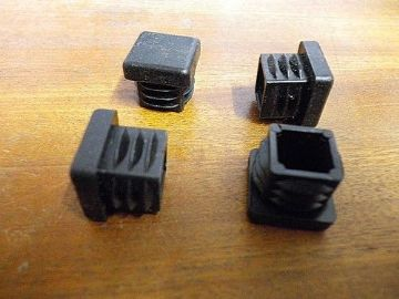 Pack of 8  20mmx20mm Plastic End Caps for metal box section, plug bung finish